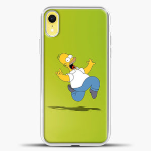 The Simpsons Freaky Homer iPhone XR Case, White Plastic Case | casedilegna.com