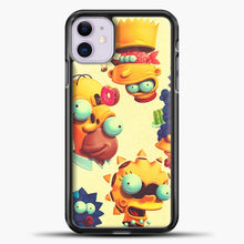 Load image into Gallery viewer, The Simpsons Weird Animated iPhone 11 Case, Black Plastic Case | casedilegna.com