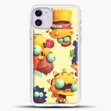 Load image into Gallery viewer, The Simpsons Weird Animated iPhone 11 Case, White Plastic Case | casedilegna.com