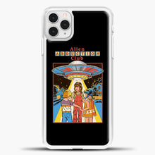 Load image into Gallery viewer, Three Friends And Intergalactic Travel iPhone 11 Pro Case, White Plastic Case | casedilegna.com