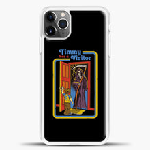 Load image into Gallery viewer, Timmy Has A Visitor iPhone 11 Pro Max Case, White Plastic Case | casedilegna.com