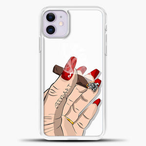 Vibes Red Nails With Cigarettes iPhone 11 Case