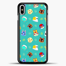 Load image into Gallery viewer, Walmart Animal Crossing New Horizons iPhone X Case, Black Plastic Case | casedilegna.com