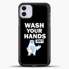 Load image into Gallery viewer, Wash Your Hands iPhone 11 Case, Black Plastic Case | casedilegna.com