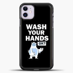 Wash Your Hands iPhone 11 Case, Black Plastic Case | casedilegna.com