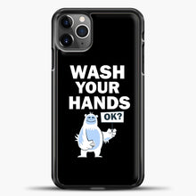 Load image into Gallery viewer, Wash Your Hands iPhone 11 Pro Max Case, Black Plastic Case | casedilegna.com