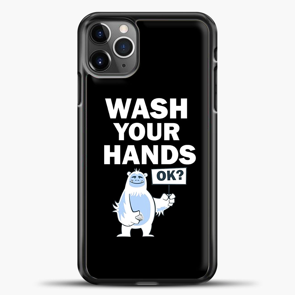 Wash Your Hands iPhone 11 Pro Max Case, Black Plastic Case | casedilegna.com