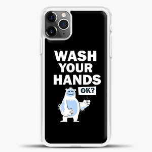 Wash Your Hands iPhone 11 Pro Max Case, White Plastic Case | casedilegna.com