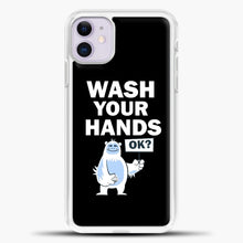 Load image into Gallery viewer, Wash Your Hands iPhone 11 Case, White Plastic Case | casedilegna.com