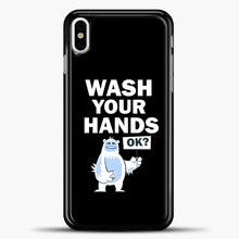 Load image into Gallery viewer, Wash Your Hands iPhone X Case, Black Plastic Case | casedilegna.com