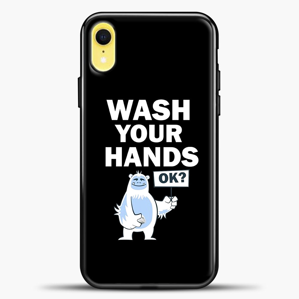Wash Your Hands iPhone XR Case, Black Plastic Case | casedilegna.com