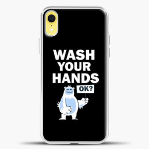 Wash Your Hands iPhone XR Case, White Plastic Case | casedilegna.com