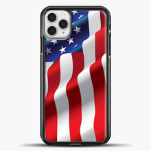 Load image into Gallery viewer, Wave American Flag iPhone 11 Pro Case
