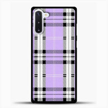 Load image into Gallery viewer, Wildflower Purple Plaid Phone Case Samsung Galaxy Note 10 Case