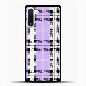 Wildflower Purple Plaid Phone Case Samsung Galaxy Note 10 Case