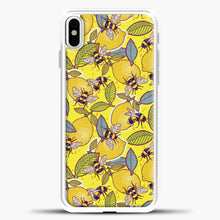 Load image into Gallery viewer, Yellow Lemon And Bee Garden iPhone Case, White Plastic Case | casedilegna.com