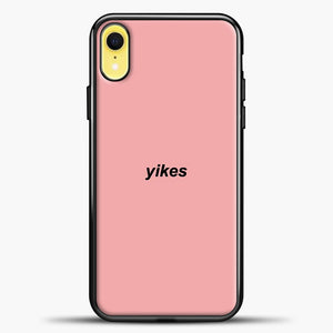Yikes Black Image iPhone XR Case, Black Plastic Case | casedilegna.com