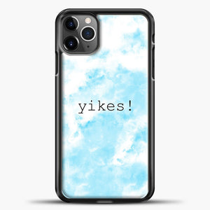 Yikes Cloud Background iPhone 11 Pro Max Case, Black Plastic Case | casedilegna.com