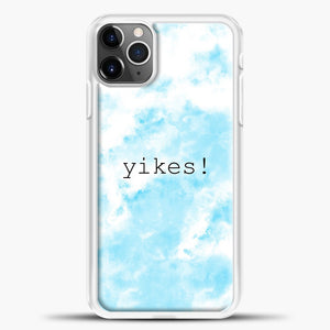 Yikes Cloud Background iPhone 11 Pro Max Case, White Plastic Case | casedilegna.com