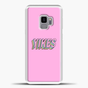 Yikes Colorful Image Samsung Galaxy S9 Case, White Plastic Case | casedilegna.com