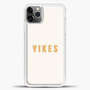 Yikes Pink Background iPhone 11 Pro Max Case, White Plastic Case | casedilegna.com