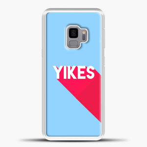 Yikes Red Shadow Samsung Galaxy S9 Case, White Plastic Case | casedilegna.com