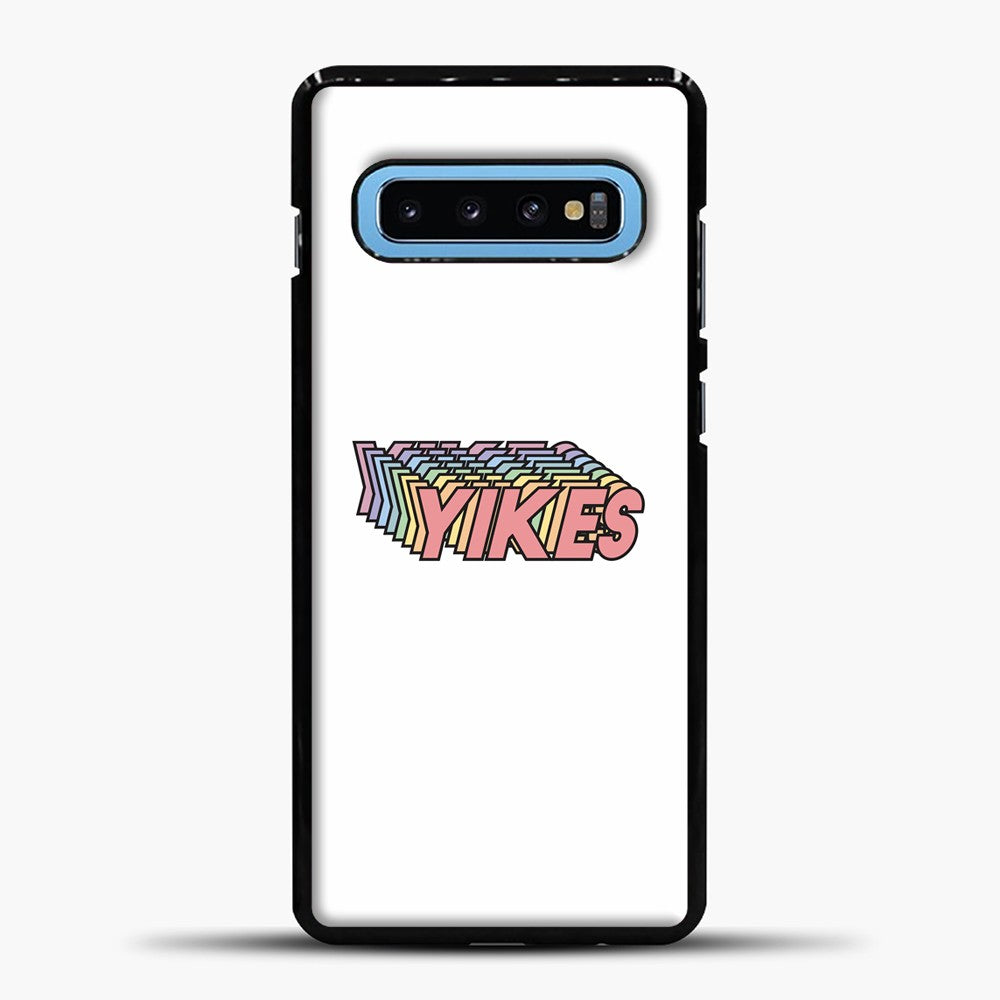 Yikes Shadow Colorful Samsung Galaxy S10 Case, Black Plastic Case | casedilegna.com