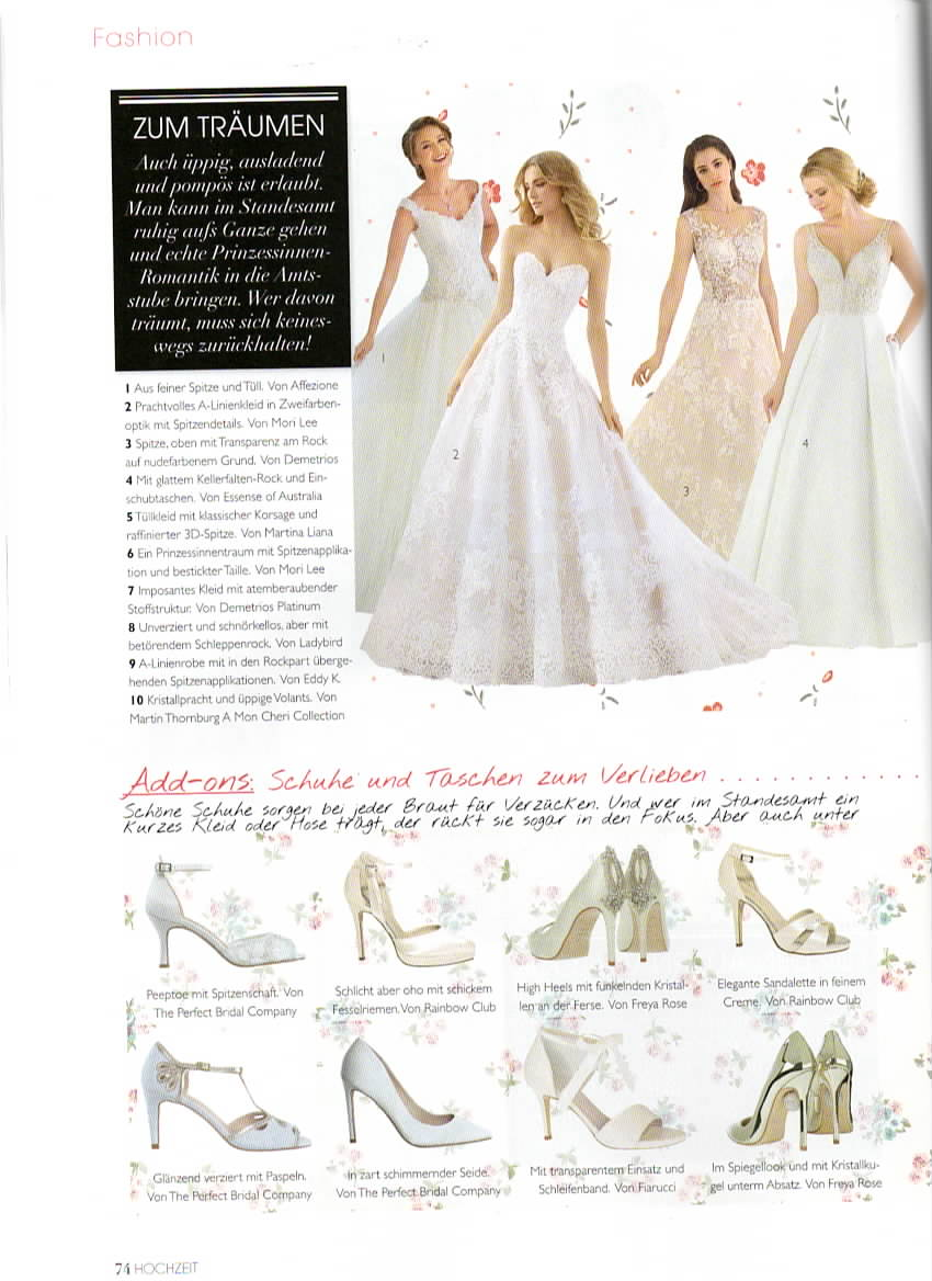 Hochzeit Magazine 2019 - Aurora Champagne and Astoria