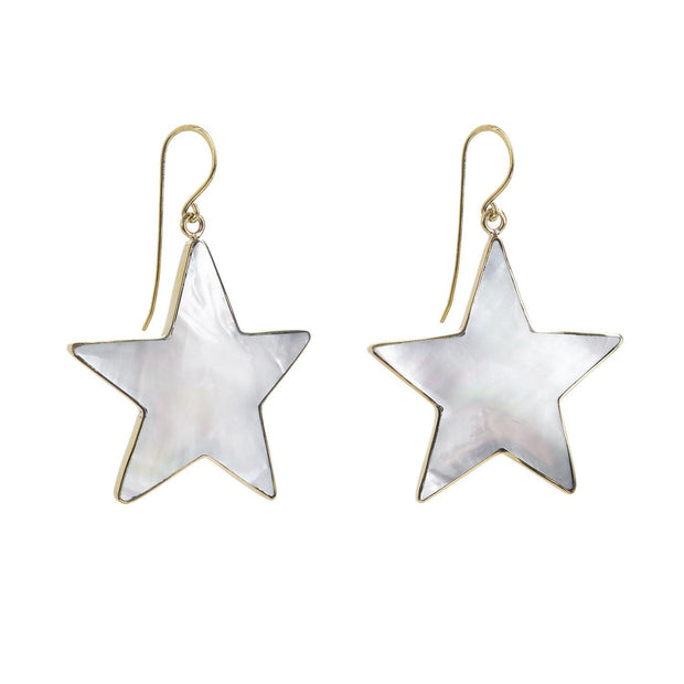 Mother of Pearl Gold Star