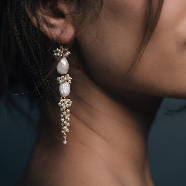 Baroque Pearl Long Drops