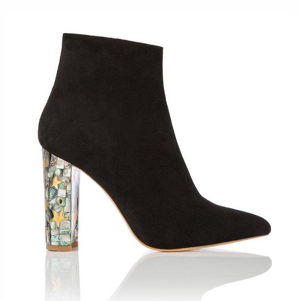 Roxy-designer-black-ankle-boot-side-lr