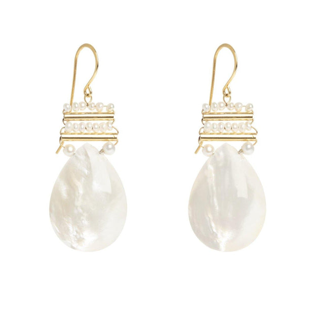 Baroque Pearl Mother of Pearl Drops