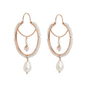 gold hoops pearls LR