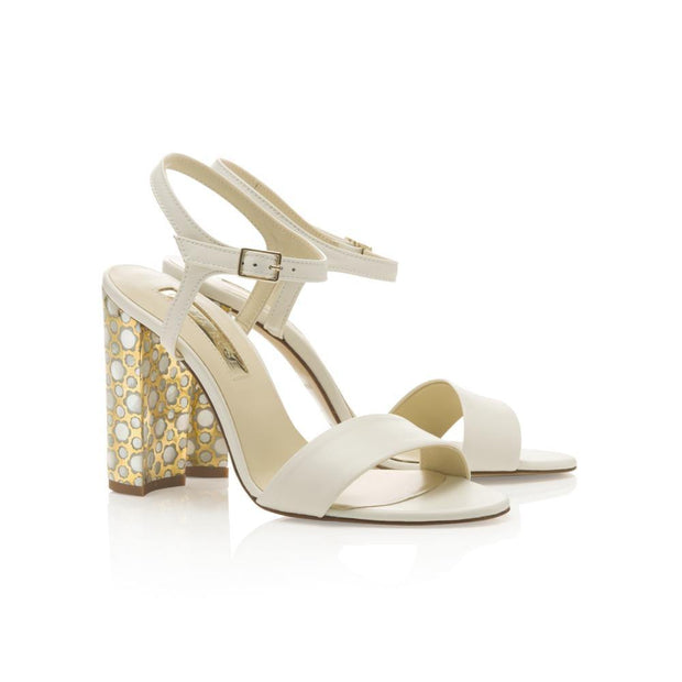 ivory leather wedding sandals