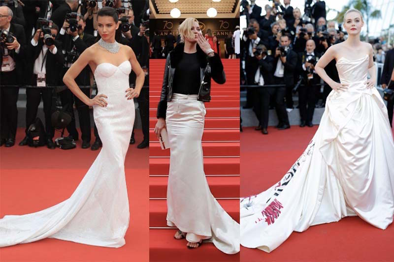 Celebs white and bridal influence on the red carpet