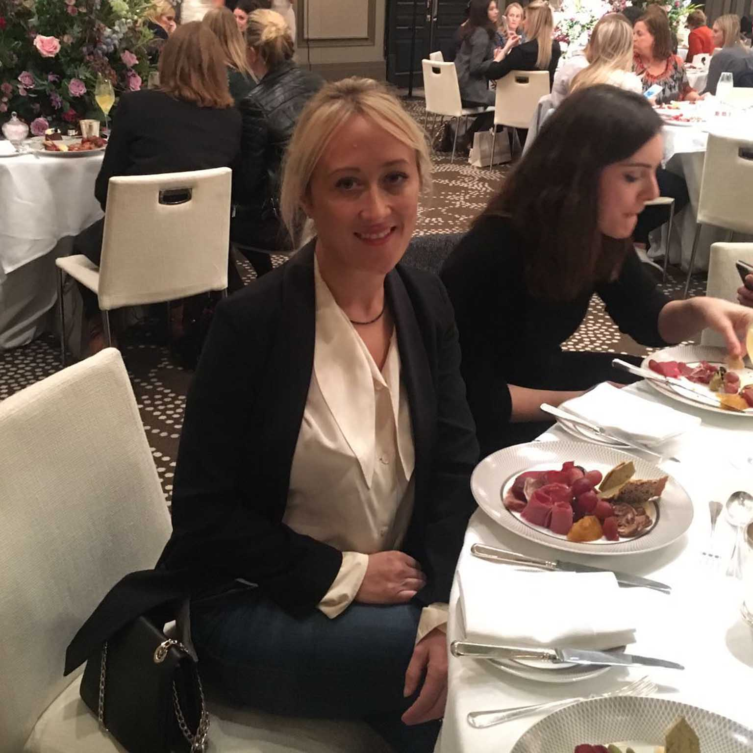 Image of Freya Rose at the Suzanne Neville brides event