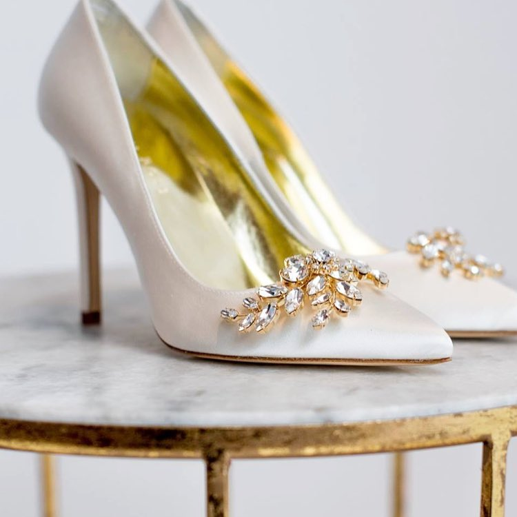Freya Rose Shoes adorned with Haywood Shoe clip