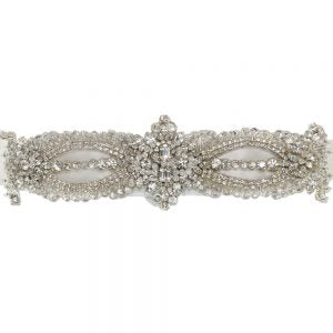 Image of Freya Rose belt style Astoria with swarovski crystal to wear with bridal gown, close up shot