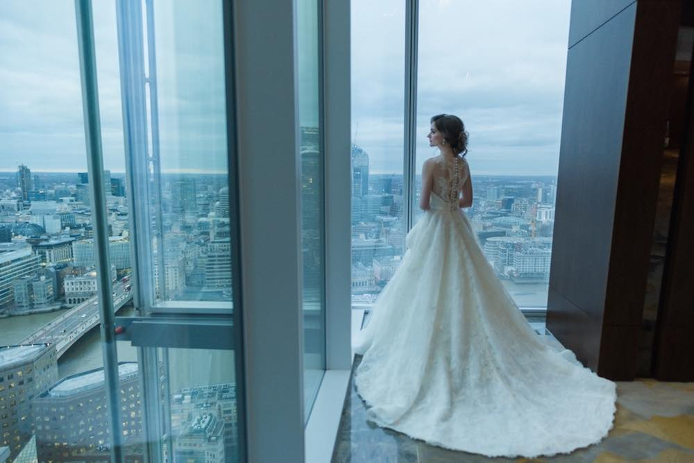 Wedding venue at the Shangri-La Hotel, the Shard