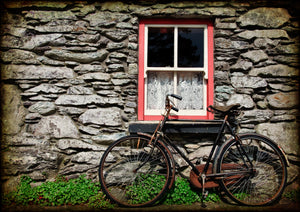 Bicycle parked at Irish Cottage.