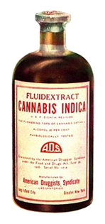 Cannabis Fluid Extract Medicine Bottle