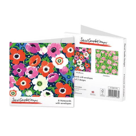 Pack of 8 Notecards - Floral Textile Designs