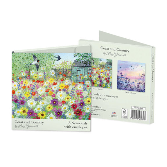 Pack of 8 Notecards - Coast and Country