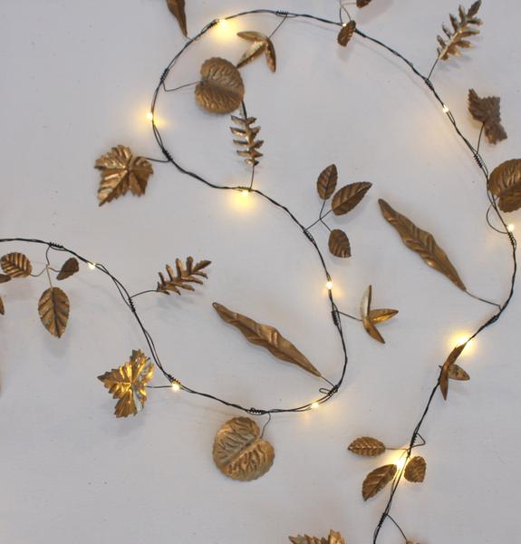 Gold Leaf Light Chain