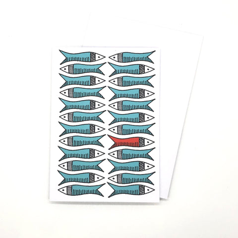 Greetings Card - Red Herring