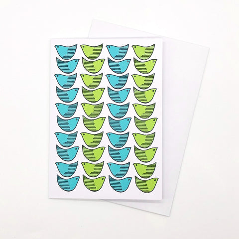 Greetings Card - Blue Bird