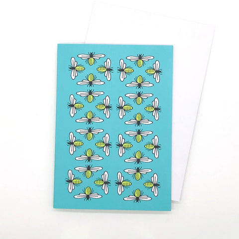 Greetings Card - Busy Bee