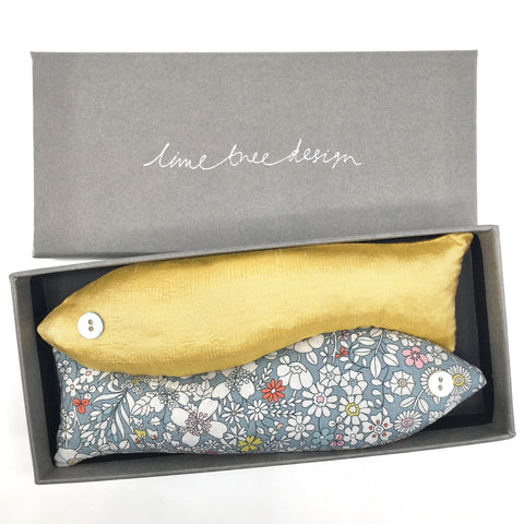 Box of 2 Lavender Fish - Julia's Yellow