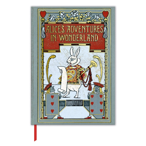 Lined Journal with Alice's Adventures in Wonderland Book Cover