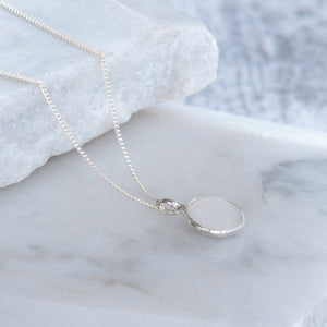 Pebble Locket Necklace Sterling Silver